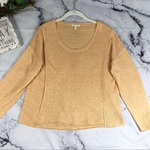 Eileen Fisher linen drop shoulder sweater Sz M